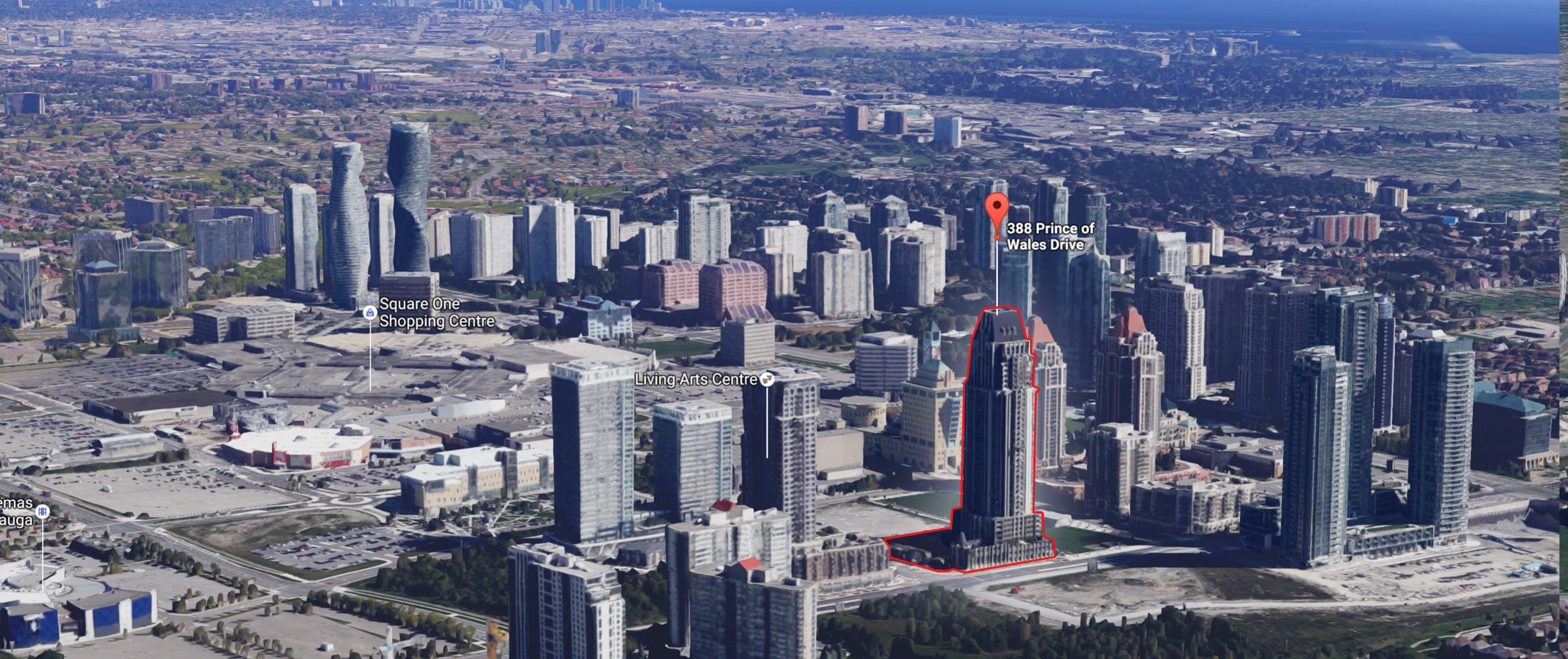One Park Tower Square One City Centre Mississauga Aerial