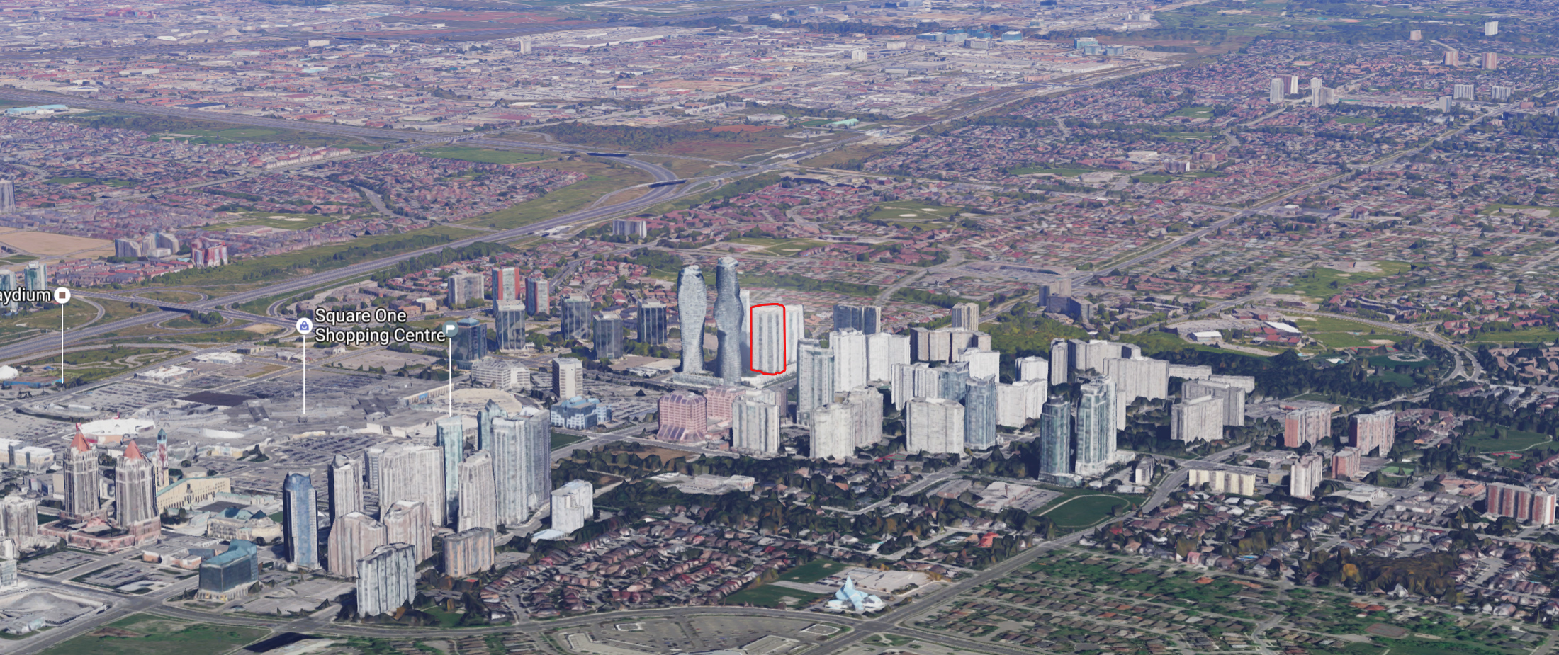 70 Absolute Avenue - Absolute World - Mississauga Aerial